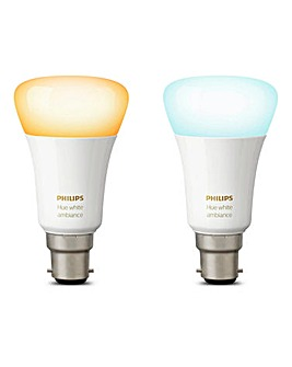 Hue White Ambiance B22 Twin Pack