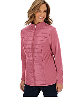 Julipa Rose Pink Fleece with Woven Front
