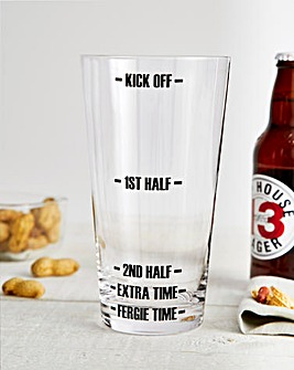 Football Match Two Pint Survival Glass