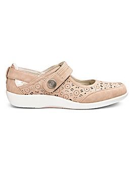 Taupe Cushion Walk Bar Shoes EEE Fit