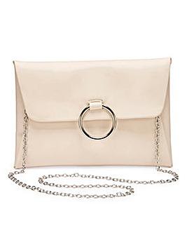 Sophie Nude Ring Detail Clutch Bag