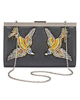 Lovebird Embroidered Clutch Bag