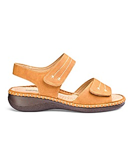 Cushion Walk Tan Sandals EEE Fit