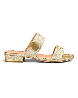Gold Print Flexi Sole Sandals E Fit