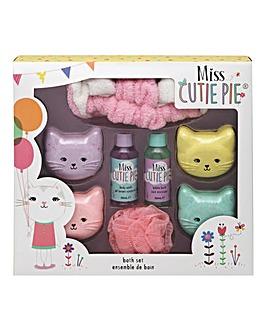 Miss Cutie Pie Kitty Bath Set
