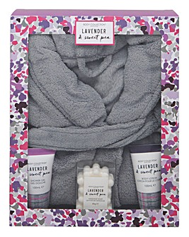 Lavender Bathrobe Set