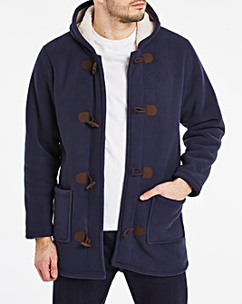 Navy Fleece Duffle Coat