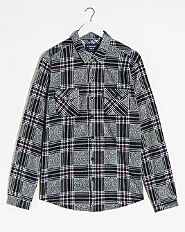 Grey Check Fleece Shirt