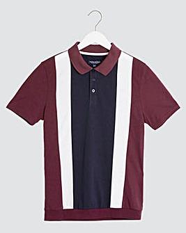 Wine Welted Hem Polo Shirt