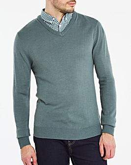 Sage Mock Collar Jumper