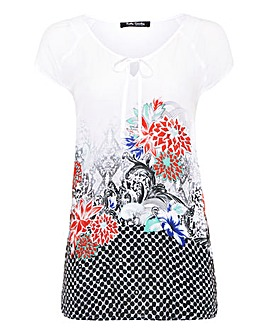 Betty Barclay Printed Tie Neck Top