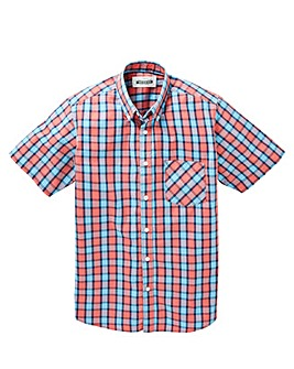 Jacamo Harper Short Sleeve Check Shirt Long
