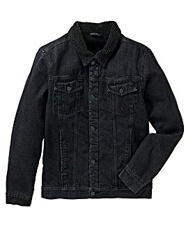 Jacamo Borg Lined Denim Jacket Long