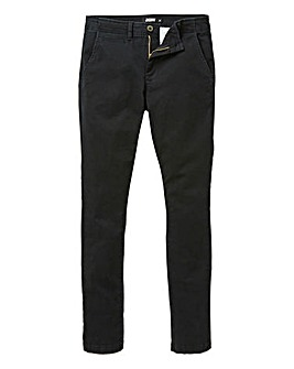 Jacamo Black Stretch Skinny Chino 31in