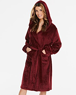 Pretty Secrets Luxury Hooded Berry Gown