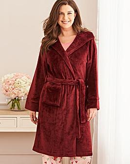 Pretty Secrets Luxury Hooded Berry Gown