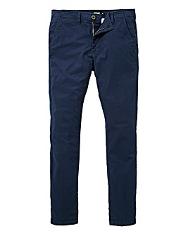 Jacamo Navy Stretch Skinny Chino 31in