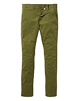 Jacamo Khaki Stretch Skinny Chino 33in