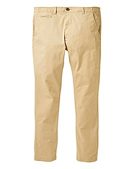 Jacamo Sand Stretch Skinny Chino 31in