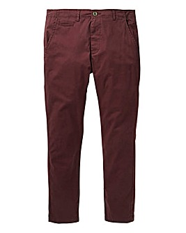 Jacamo Wine Stretch Skinny Chino 33in
