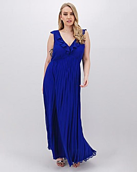 Cobalt Pleat Occasion Maxi Dress