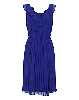 Cobalt Pleat Occasion skater Dress