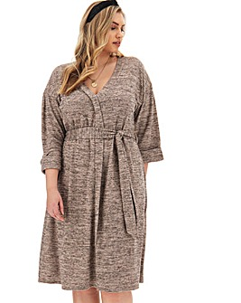 Cosy Button Through Supersoft Dress
