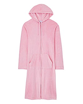 "Pretty Secrets Velour Zip Gown 42"""