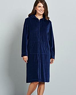 Pretty Secrets Velour Zip Gown L42