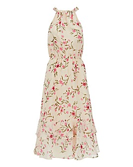 Floral Halterneck Midi Dress