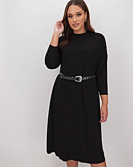 Black T Shirt Midi Dress