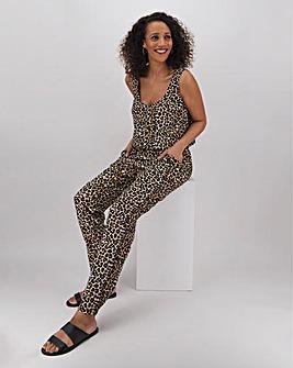 Leopard Zip Jumpsuit