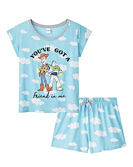 Toy Story Cloud Print Shortie Set