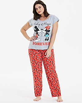 Minnie and Mickey Valentines Pyjama Set