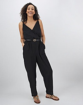 Black Wrap Top Jumpsuit