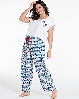 Minnie Blue Stripe Glitter Pyjama Set