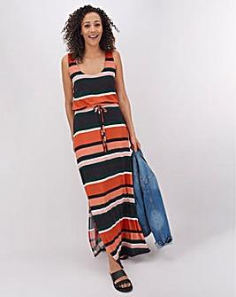 Multi Stripe Vest Maxi Dress
