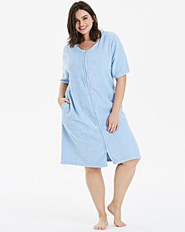 Pretty Secrets Cotton Towelling Zip Gown