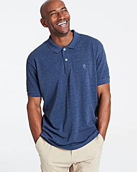 Denim Short Sleeve Embroid Polo Long
