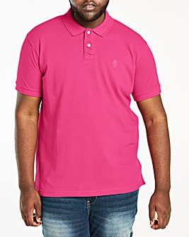 Hot Pink Short Sleeve Embroid Polo