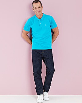 Peacock Short Sleeve Embroid Polo Long