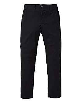 Capsule Black Basic Chino 33In Leg Length