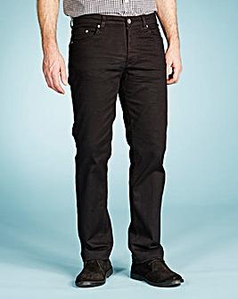 UNION BLUES Black Gaberdine Jeans 35in