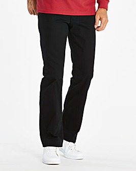 Straight Gaberdine Black Jeans 31 in