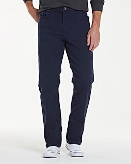 Straight Gaberdine Navy Jeans 31 in