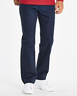 Straight Gaberdine Navy Jeans 29 in