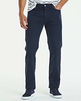 Straight Gabardine Navy Jeans 27 in