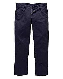 Straight Gaberdine Navy Jeans 33 in