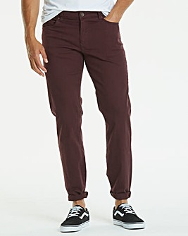 Gaberdine Wine Jeans 27 in