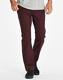 Gaberdine Wine Jeans 27 in
